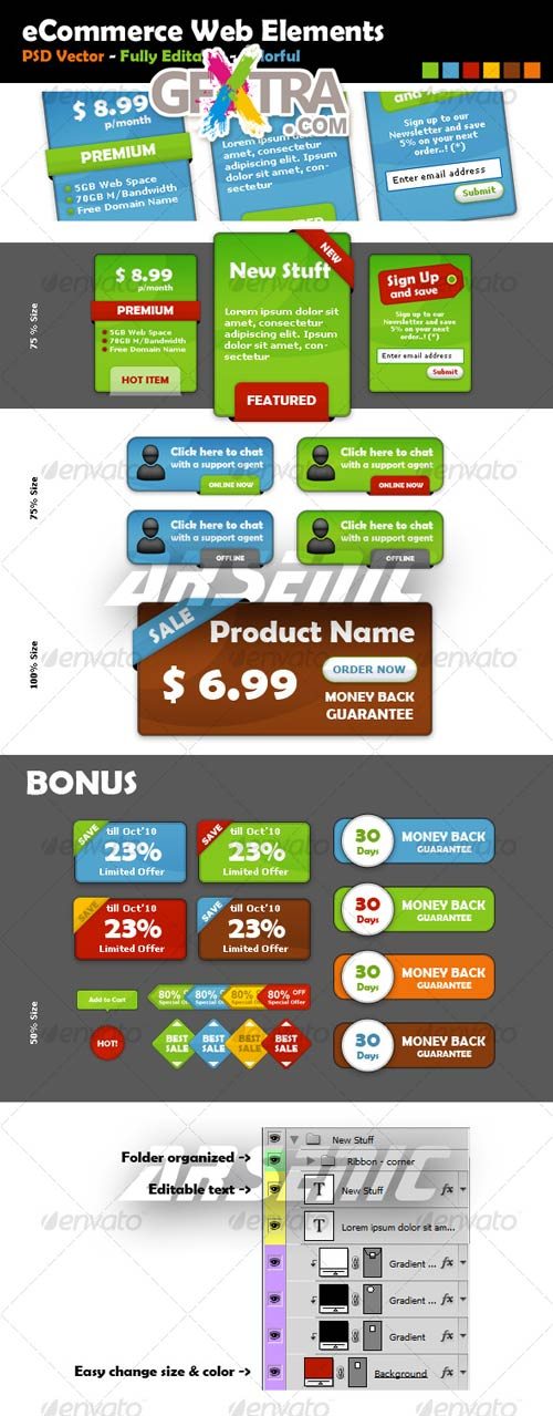 eCommerce Web Elements - GraphicRiver - REUPLOADED!