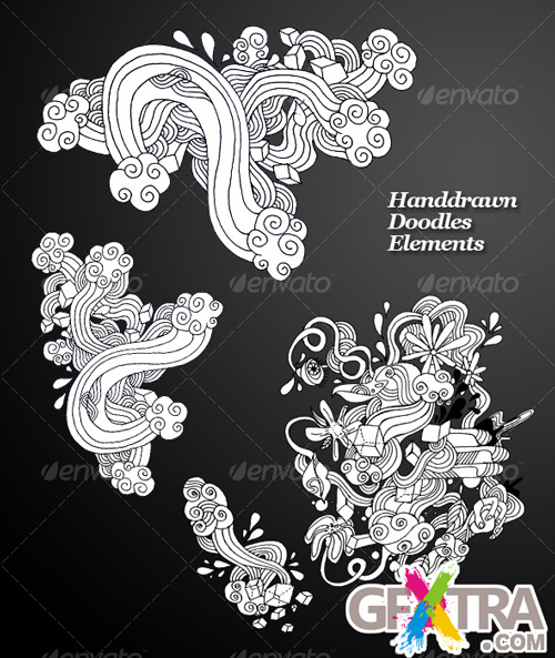 Handdrawn Doodles Elements - GraphicRiver - REUPLOADED!