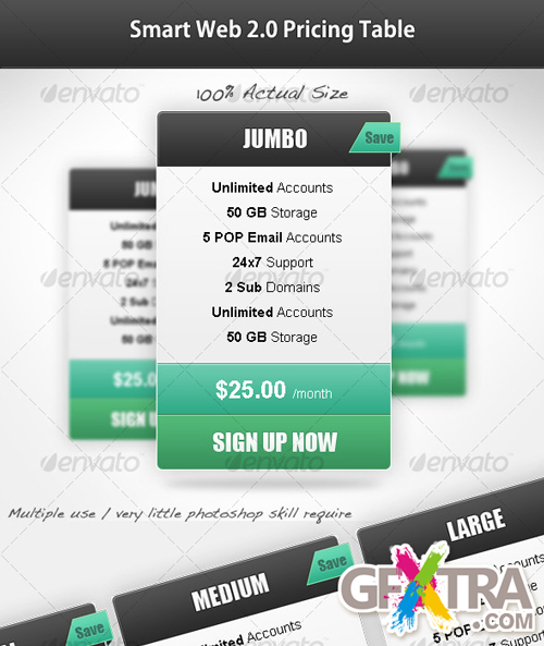 Smart Web 2.0 Pricing Table - GraphicRiver - REUPLOADED