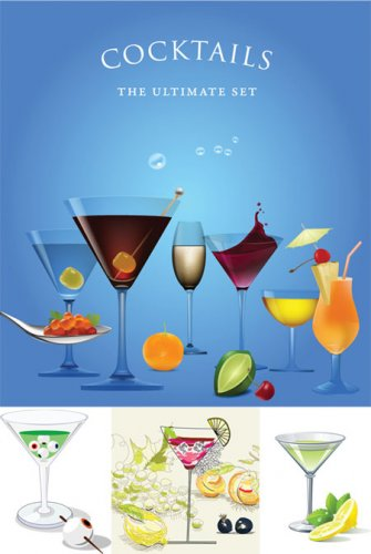 Coctails - The Ultimate Set - Vector