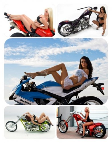 Wallpapers - Girls and Motorcycles 2011