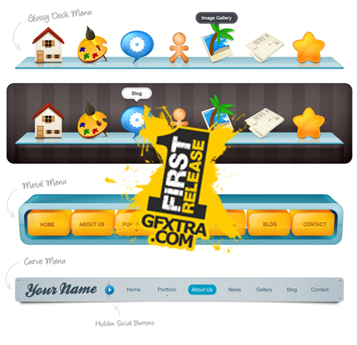 New Web Menu - GraphicRiver