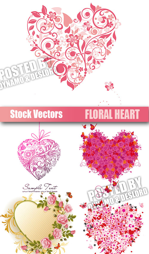 Stock Vectors - Floral Heart