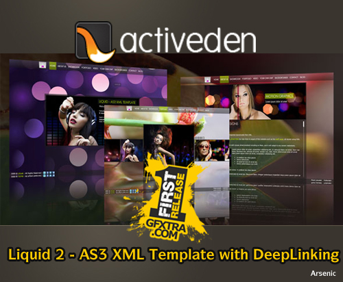 Liquid 2 - AS3 XML Template with DeepLinking - FULL - Activeden