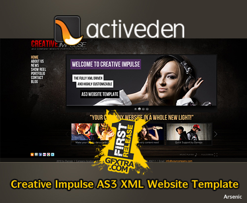 Creative Impulse AS3 XML Website Template - FULL - Activeden