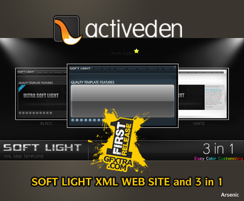 SOFT LIGHT XML WEB SITE and 3 in 1 - FULL - Activeden