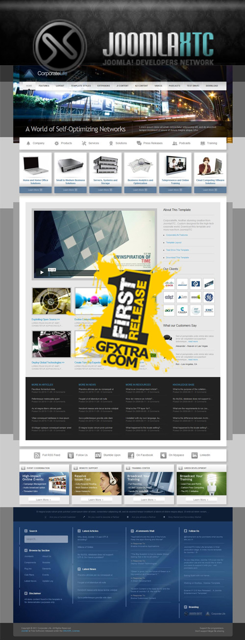 Joomla XTC - CorporateLife - FULL - INCLUDE PSD -