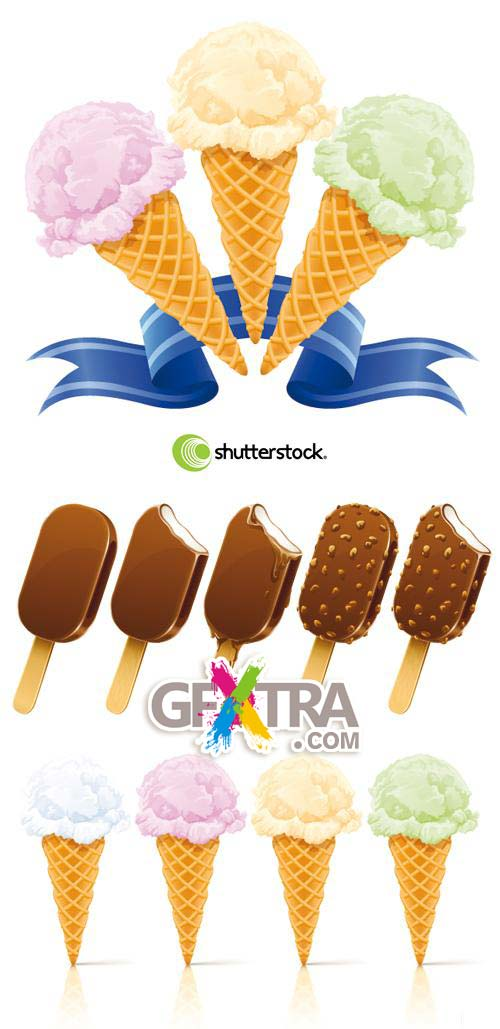 Shutterstock - Ice Creams 3xEPS