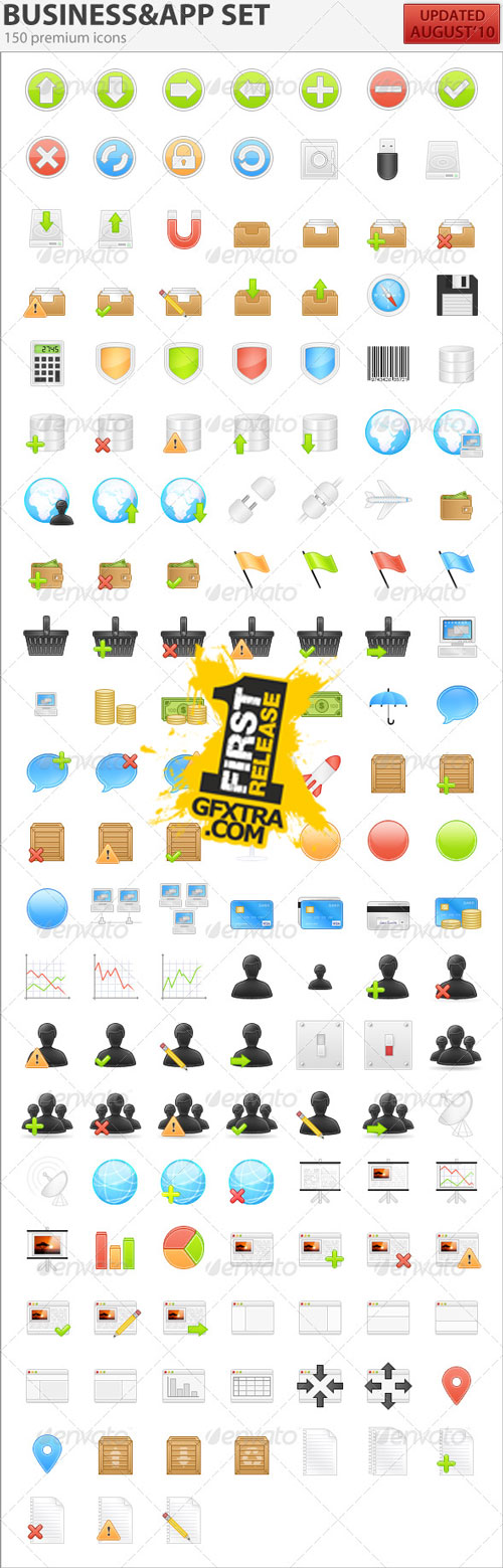 150 Business & Application Icons - GraphicRiver