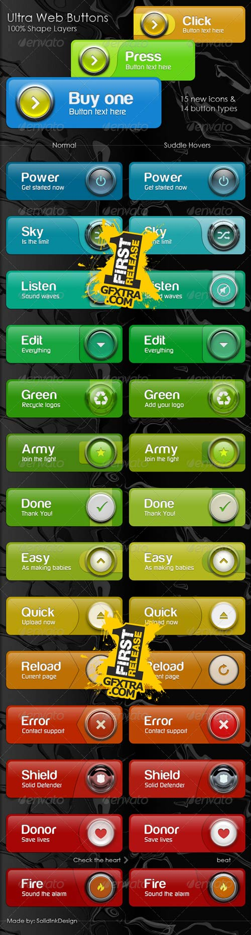 Ultra Web Buttons - GraphicRiver