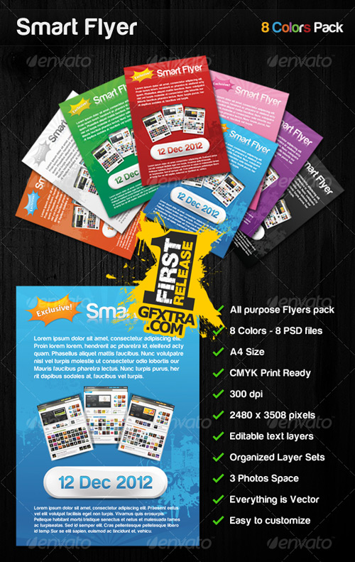 Smart Flyer 8 Colors All Purpose Flyers Pack - GraphicRiver