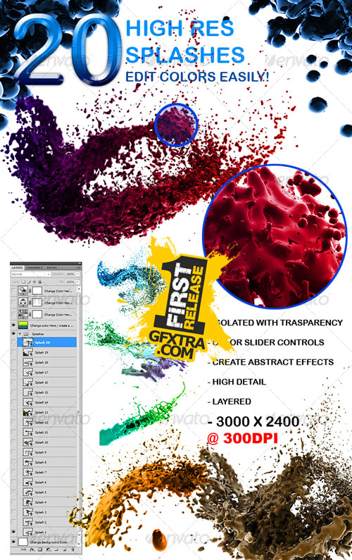 20 High Res Splashes - GraphicRiver