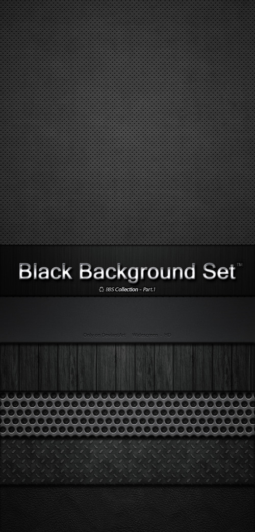 Black Background Set