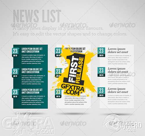 Clean News List - GraphicRiver