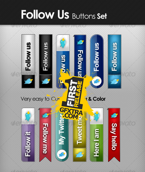 Follow Us - Tabs Set - GraphicRiver