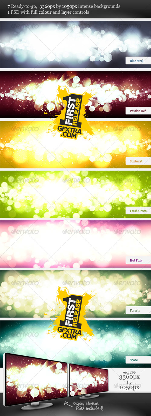 Intense Flare Burst Backgrounds - GraphicRiver