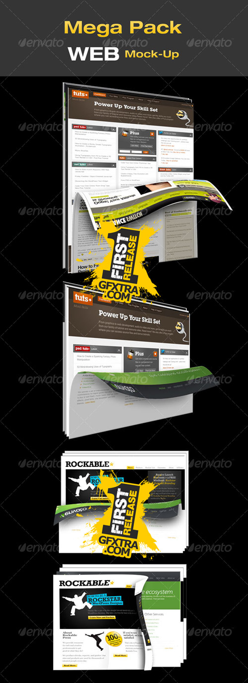 Mega Pack WEB Mock-Up - GraphicRiver
