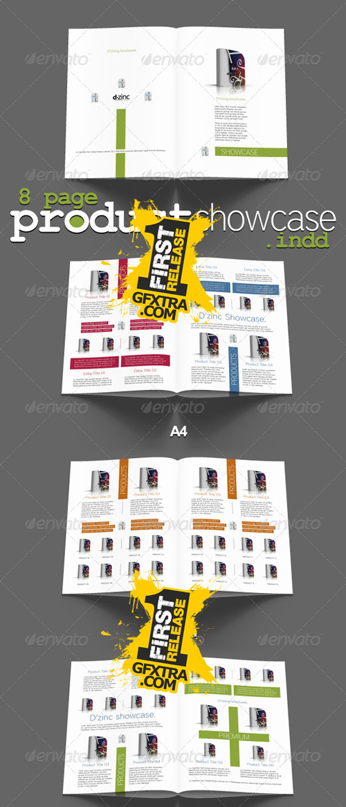 Premium Products Showcase v1 - InDesign A4 8pp - GraphicRiver