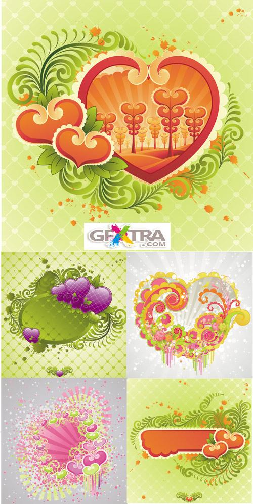 Flower vector cards 2