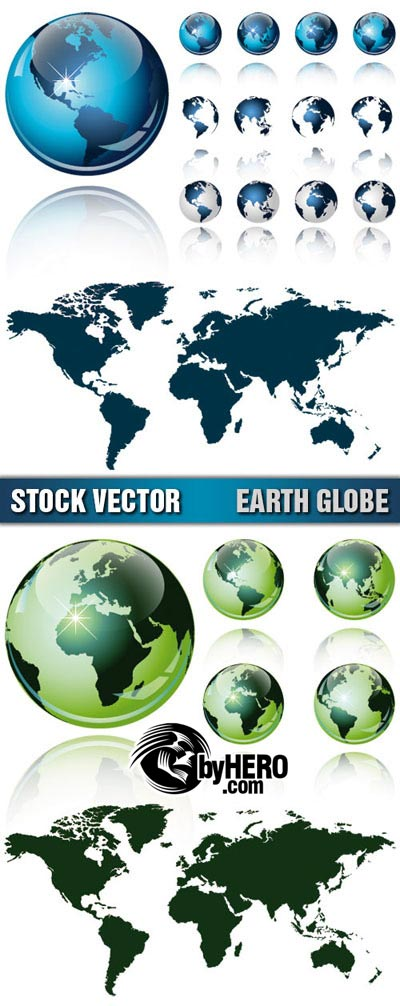 Shutterstock - Earth Globes 2xEPS