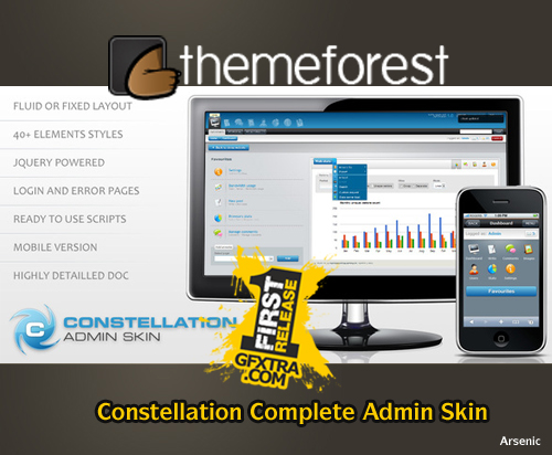 Constellation Complete Admin Skin - FULL - ThemeForest