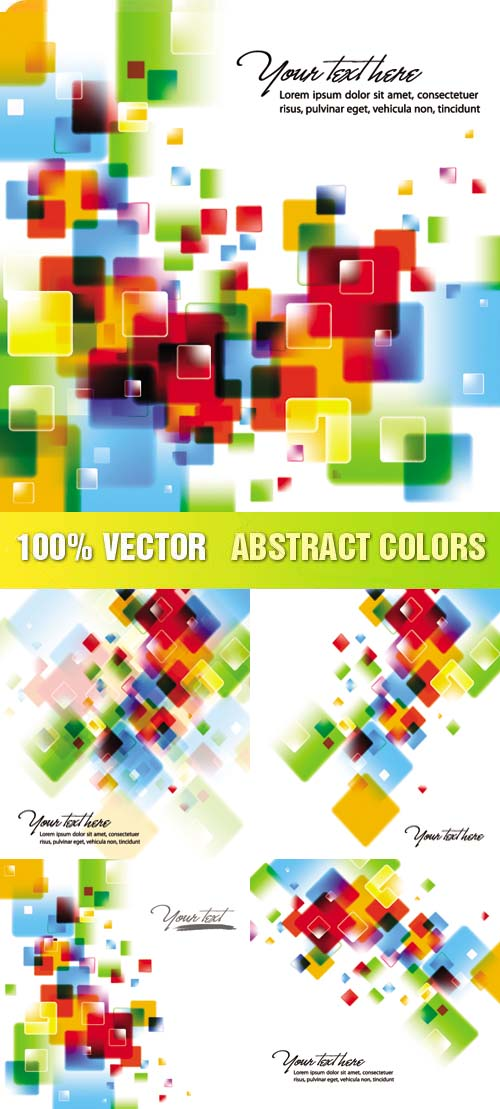 Shutterstock - Abstract Colors, 5xEPS
