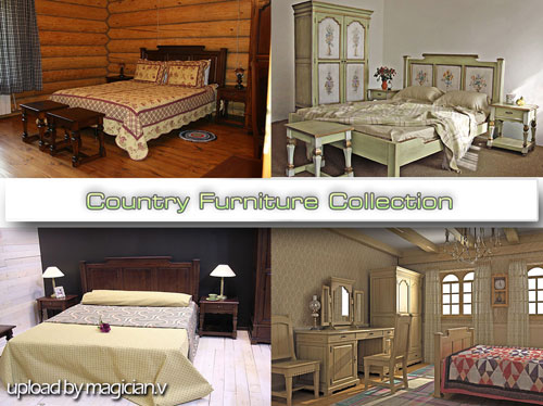 3D models of Country Furniture