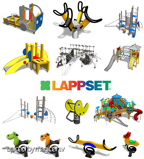 3D models of Lappset children playground equipment