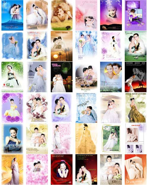 Marry, yarn build mould stratified picture storehouse - wedding PSD templates (122 CD)