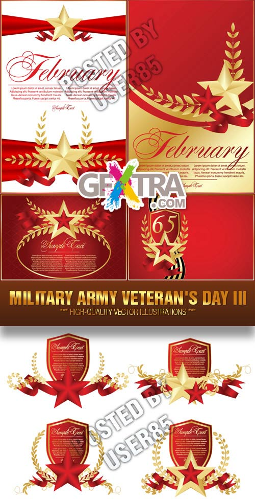 Stock Vector - Military Army Veteran\'s Day III