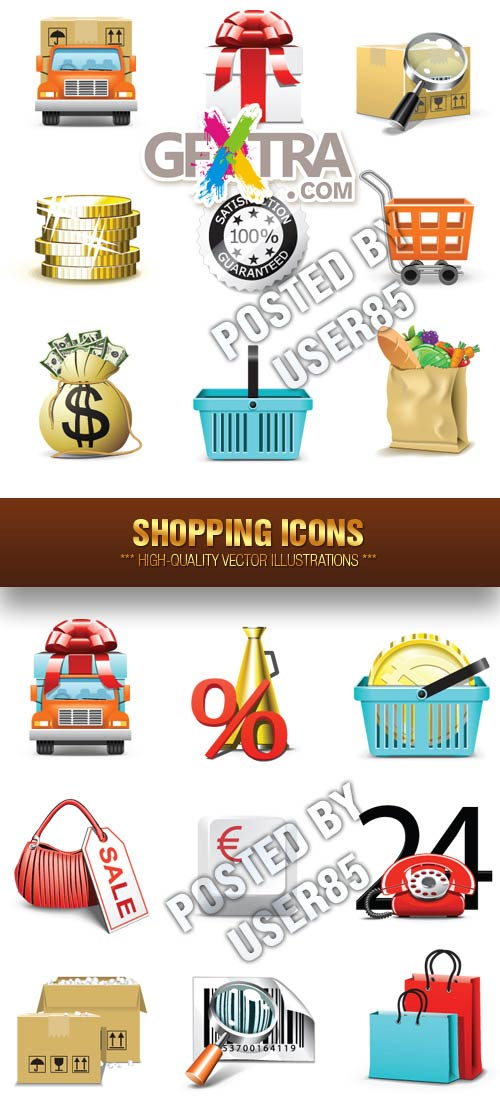 Stock Vector - Shopping Icons