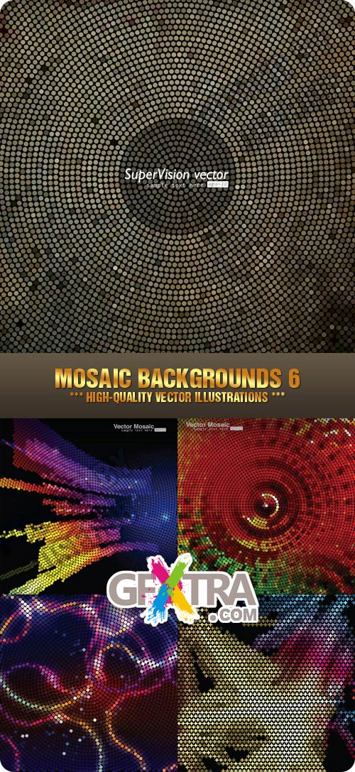 Stock Vector - Mosaic Backgrounds 6