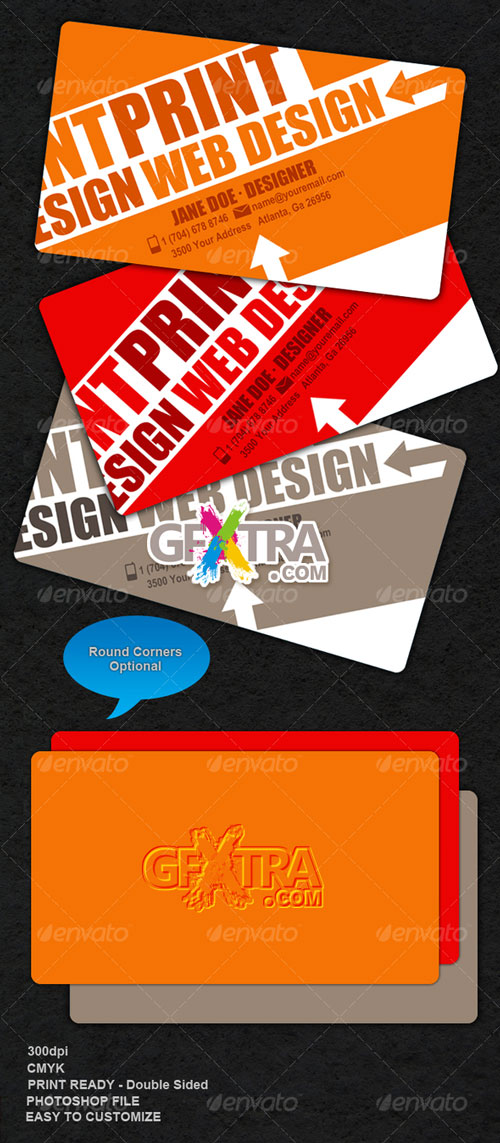 Edgy-Colorful Business Card - GraphicRiver - REUPLOADED!