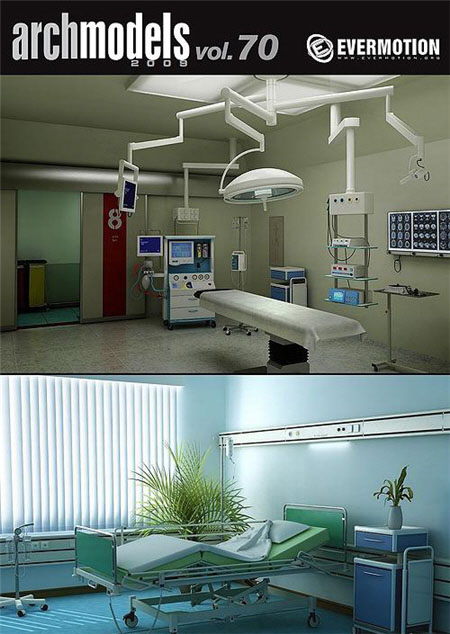 COPYRIGHT! Evermotion Archmodels Vol.70 Hospital Equipments