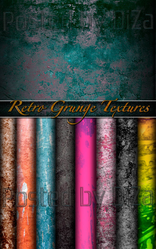 Colored Retro Grunge Textures