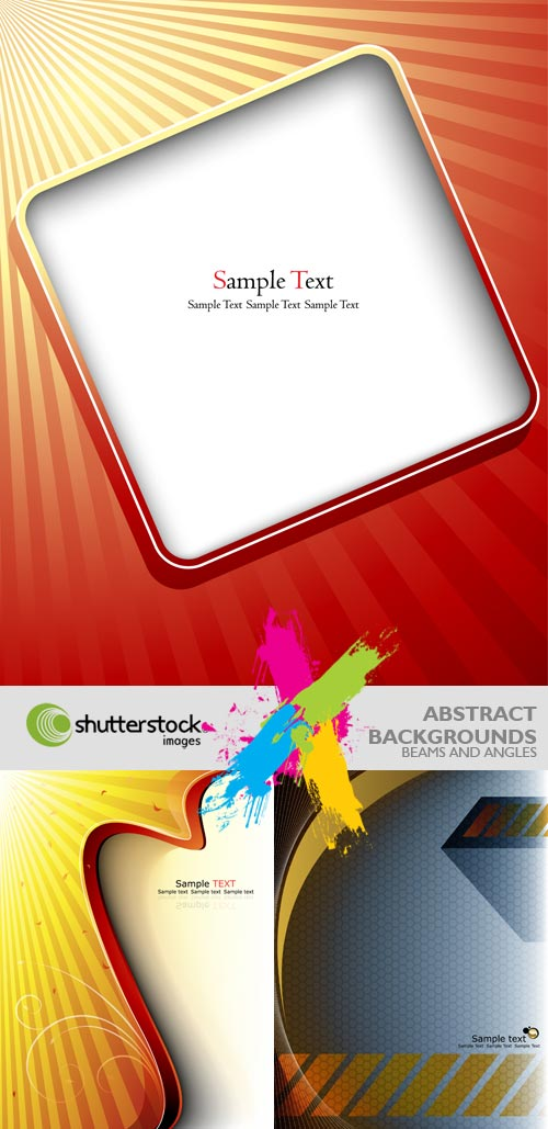 Shutterstock - Abstrack Backgrounds, Angles and Beams EPS