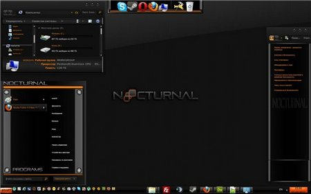 Nocturnal -Theme for Windows 7