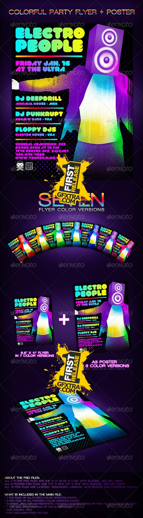 Colorful Party Flyer + Poster - GraphicRiver-REUPLOADED!