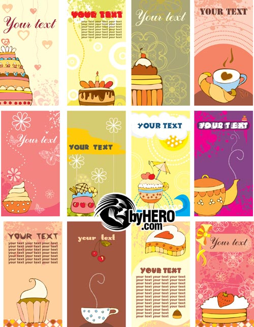 Business Cards 02 Sweets EPS Vector SS