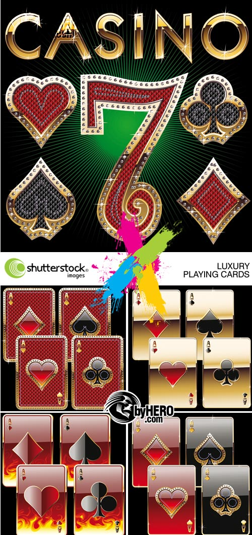Luxury Playing Cards 5 EPS Vector SS