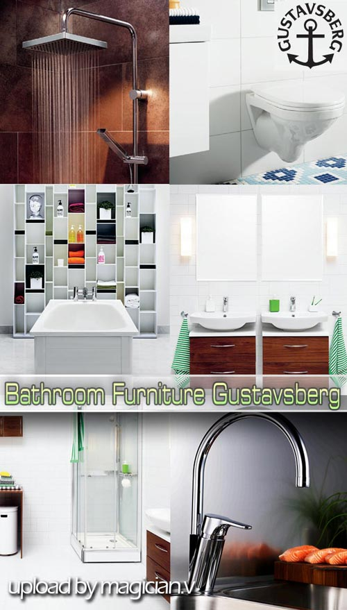 3D models of Bathroom Furniture Gustavsberg
