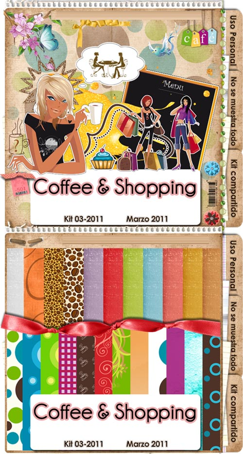 Scrap-kit - Coffee and Shopping