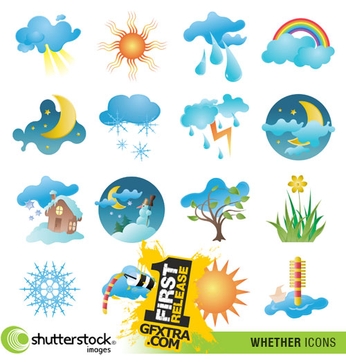 Shutterstock - Whether and Season Icons EPS