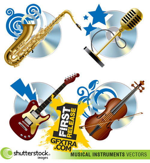 Shutterstock - Musical Intrument Icons EPS