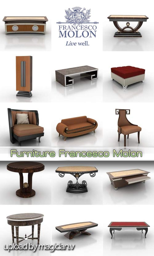 3D models of Francesco Molon Furniture