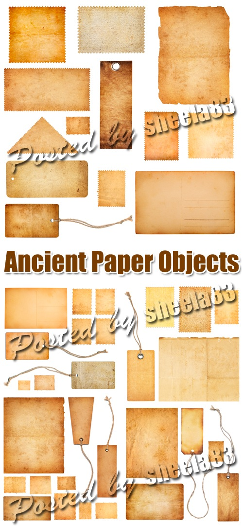 Ancient Paper Objects 5xJPGs
