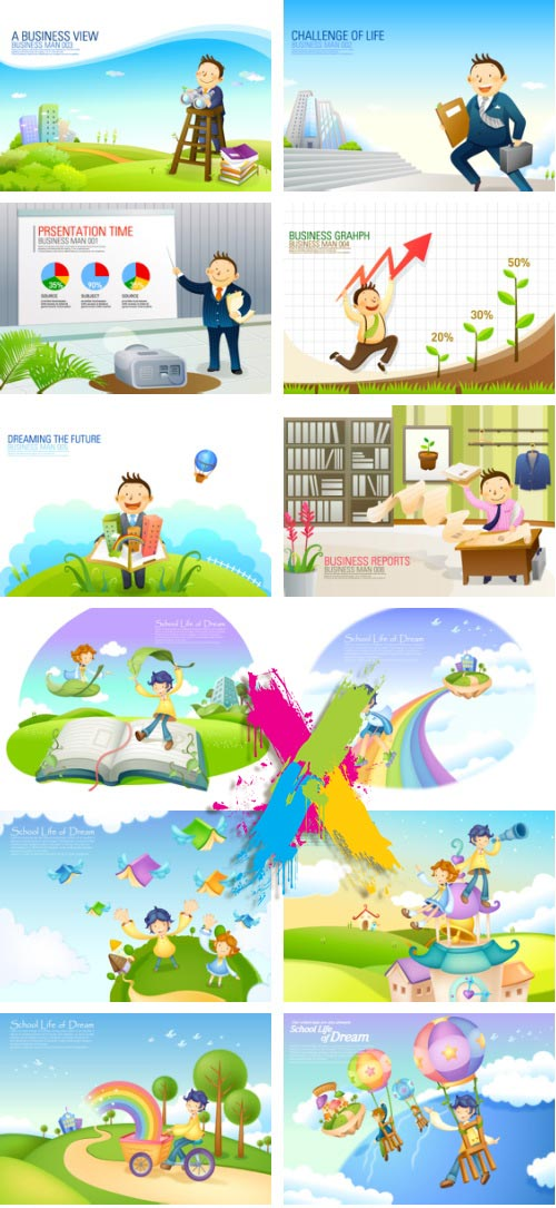 VitaminD 015 Special Illust 122xAI Backgrounds, Icons & Illustrations