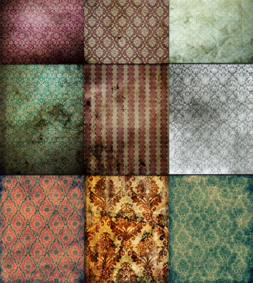 A large collection of vintage textures