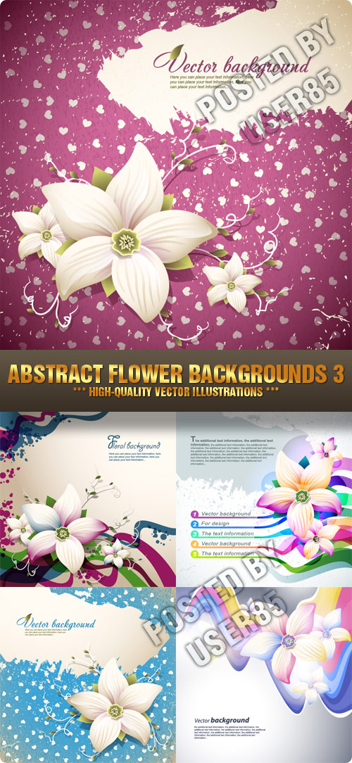 Abstract Flower Backgrounds 3