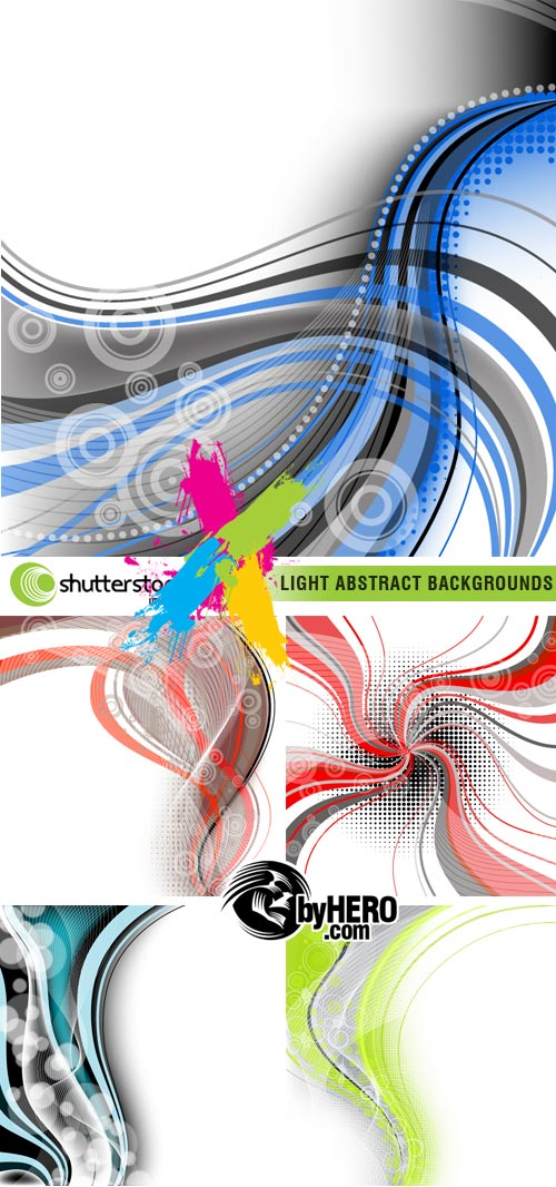 Shutterstock - Light Abstract Backgrounds 5xEPS